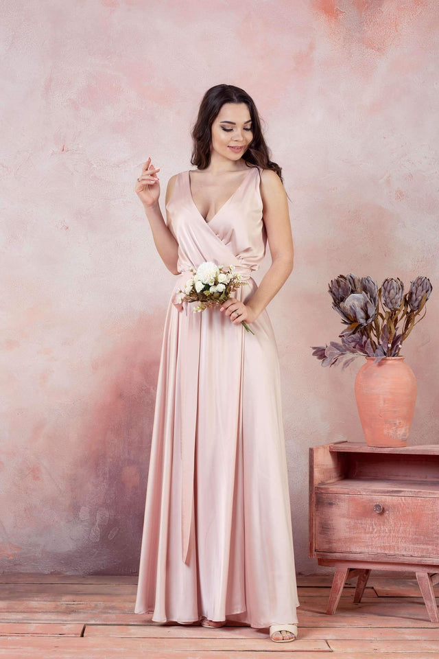 Blue Jeans Infinity Bridesmaid Maxi Dress-Bridesmaid Dresses-Ivory and Kate