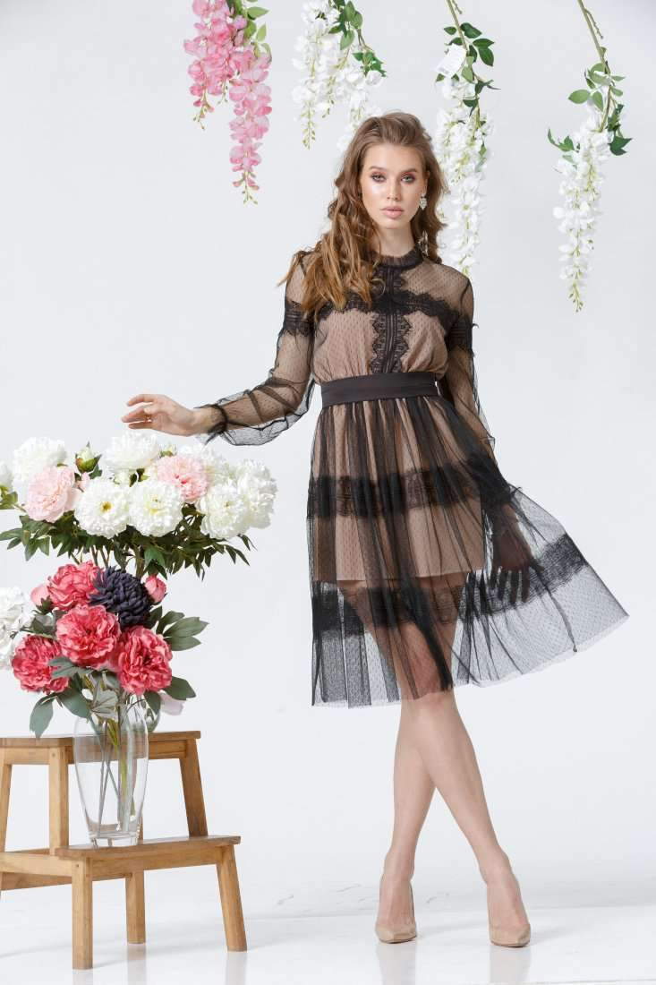 Sheer Homecoming Lace Dress