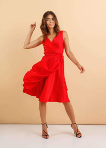 Red Summer Infinity Dress