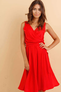 Red Summer Infinity Dress-Bridesmaid Dresses-Ivory and Kate
