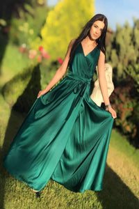 Emerald Bridesmaid Boho Infinity Dress