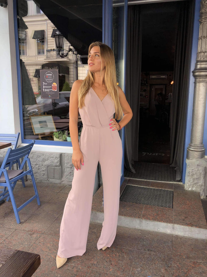 Sexy Party Jumpsuit-Prom Dress-Ivory and Kate