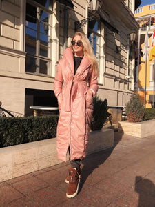 Powder Winter Wrap Puffer Coat