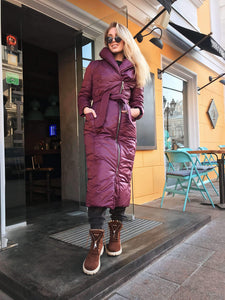 Burgundy Winter Down Coat