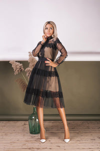 Sheer Homecoming Lace Dress-Homecoming Dress-Ivory and Kate