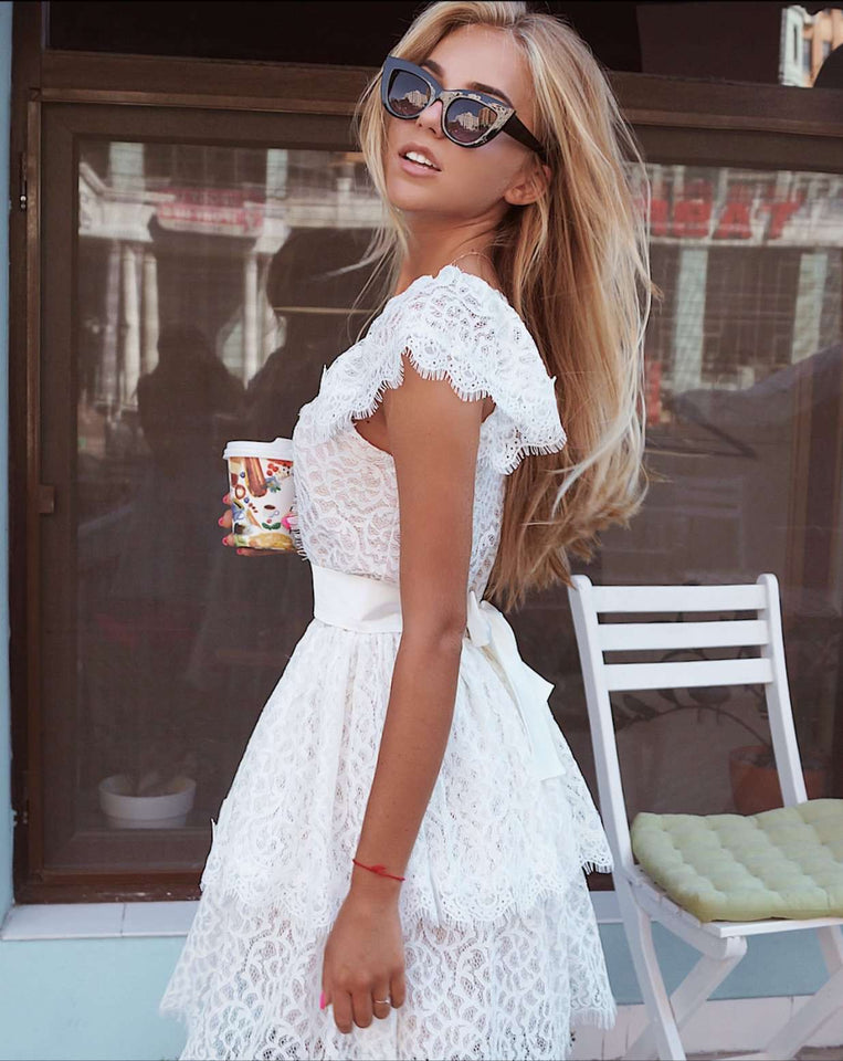 Short Beach Wedding Dress-Wedding Dress-Ivory and Kate