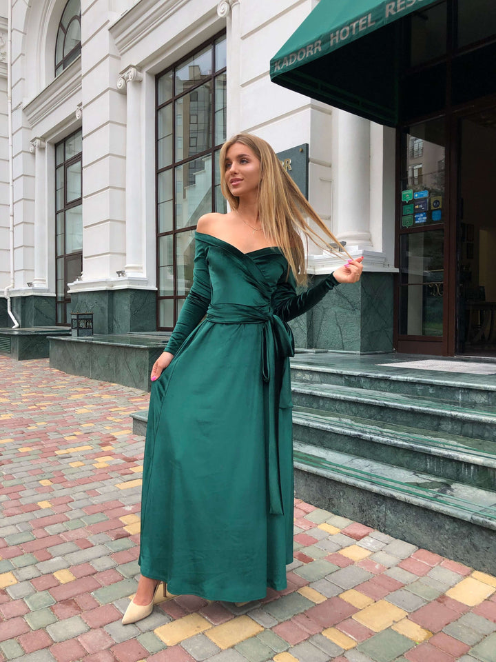 Emerald Green Velvet Bridesmaid Dress-Bridesmaid Dresses-Ivory and Kate