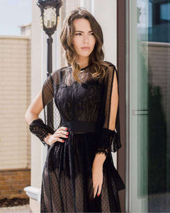Black Lace Bohemian Dress