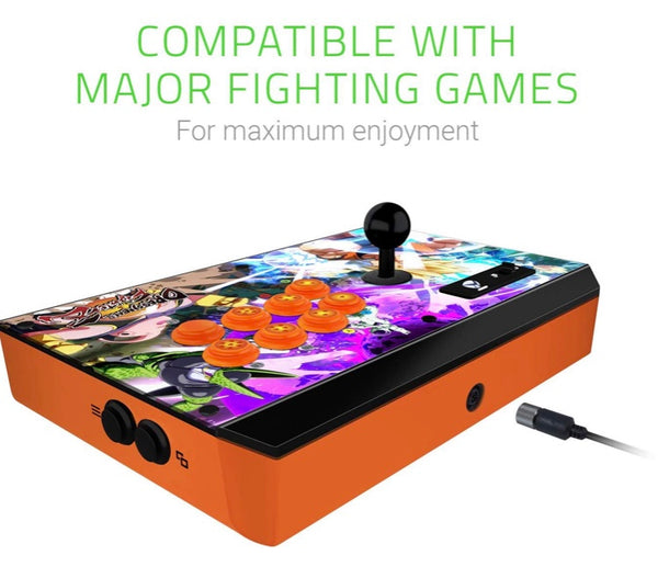 Razer Atrox Dragon Ball Fighter Z: Fully Mod-Capable - Sanwa Joystick and Buttons - Internal Storage Compartment - Tournament Arcade Stick for Xbox One