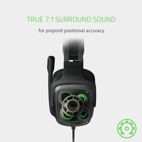 Razer Tiamat 7.1 V2: Dual Subwoofers - Audio Control Unit - Rotatable Boom Mic - Gaming Headset Works with PC, PS4, Xbox One, Switch, Mobile Devices