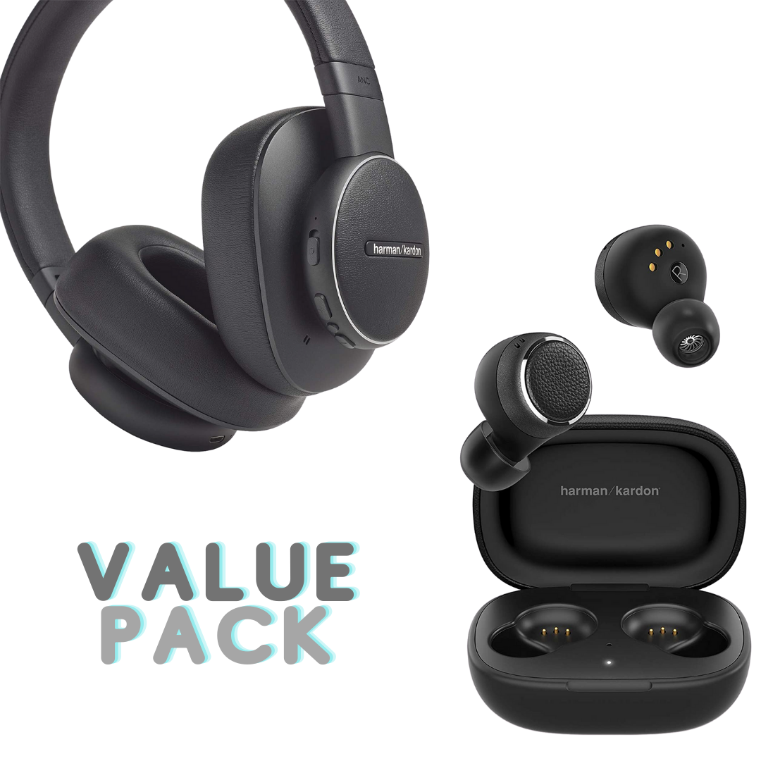 Harmon Kardon Fly Bundle (In Ear/ Over Ear) Combo Pack
