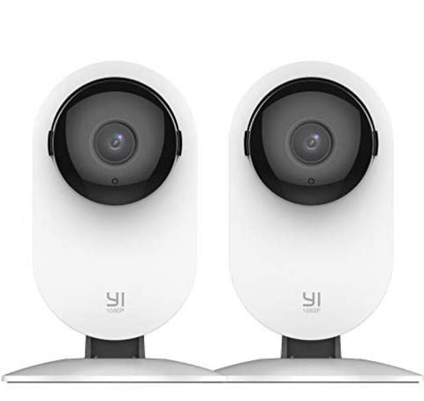 YI 2pc Home Camera, 1080p WiFi IP Security Surveillance System