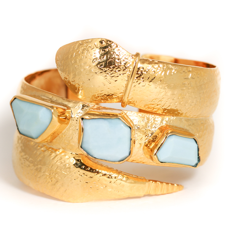Mini Blue Opal Cobra Cuff