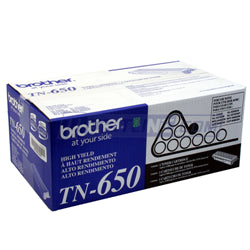 Brother TN-650 Black Toner (High Yield)