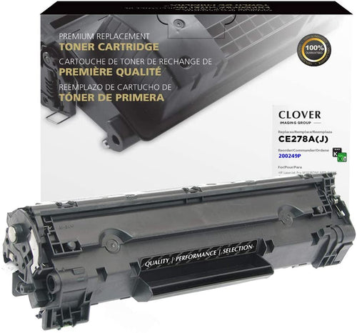 Clover Remanufactured Toner Cartridge for HP CE278A (HP 78A) Black
