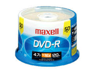 MAXELL 50PK DVD-R 16X 4.7GB RECORDABLE SPINDLE