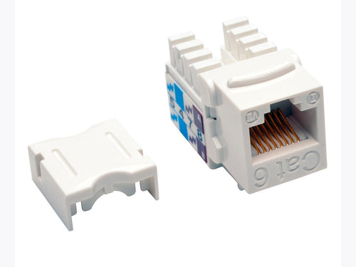 Tripp-Lite Cat6/Cat5e 110 Style Punch Down Keystone Jack - White, 25-Pack,