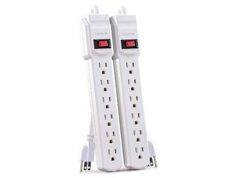 CYBERPOWER 6 OUTLET POWER STRIP 2 PACK