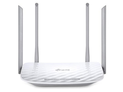 TP-LINK AC1200 Wireless Dual Band Router, 300Mbps on 2.4GHz + 867Mbps on 5GHz, 4 fixed Omni Directional Antennas