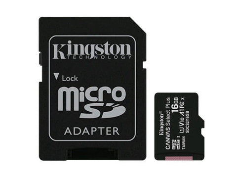 Kingston Canvas Select Plus microSDHC Card - 16GB