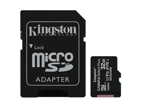 Kingston 32GB microSDXC Canvas Select Plus 100R A1 C10 Card + ADP