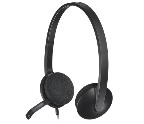 Logitech H340 USB stereo headset with noise cancelling microphone