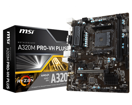 MSI A320M PRO-VH PLUS MATX AM4 Motherboard