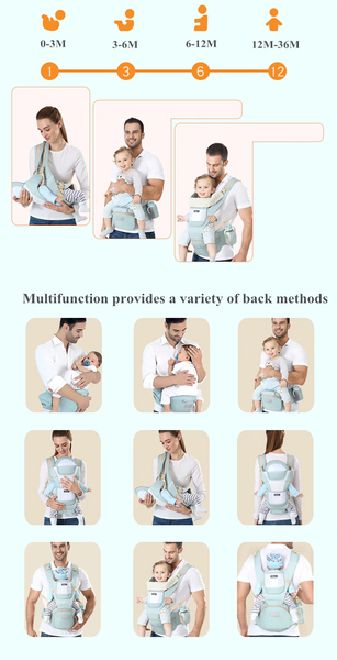 3D Breathable 6-in-1 Ergonomic Carrier