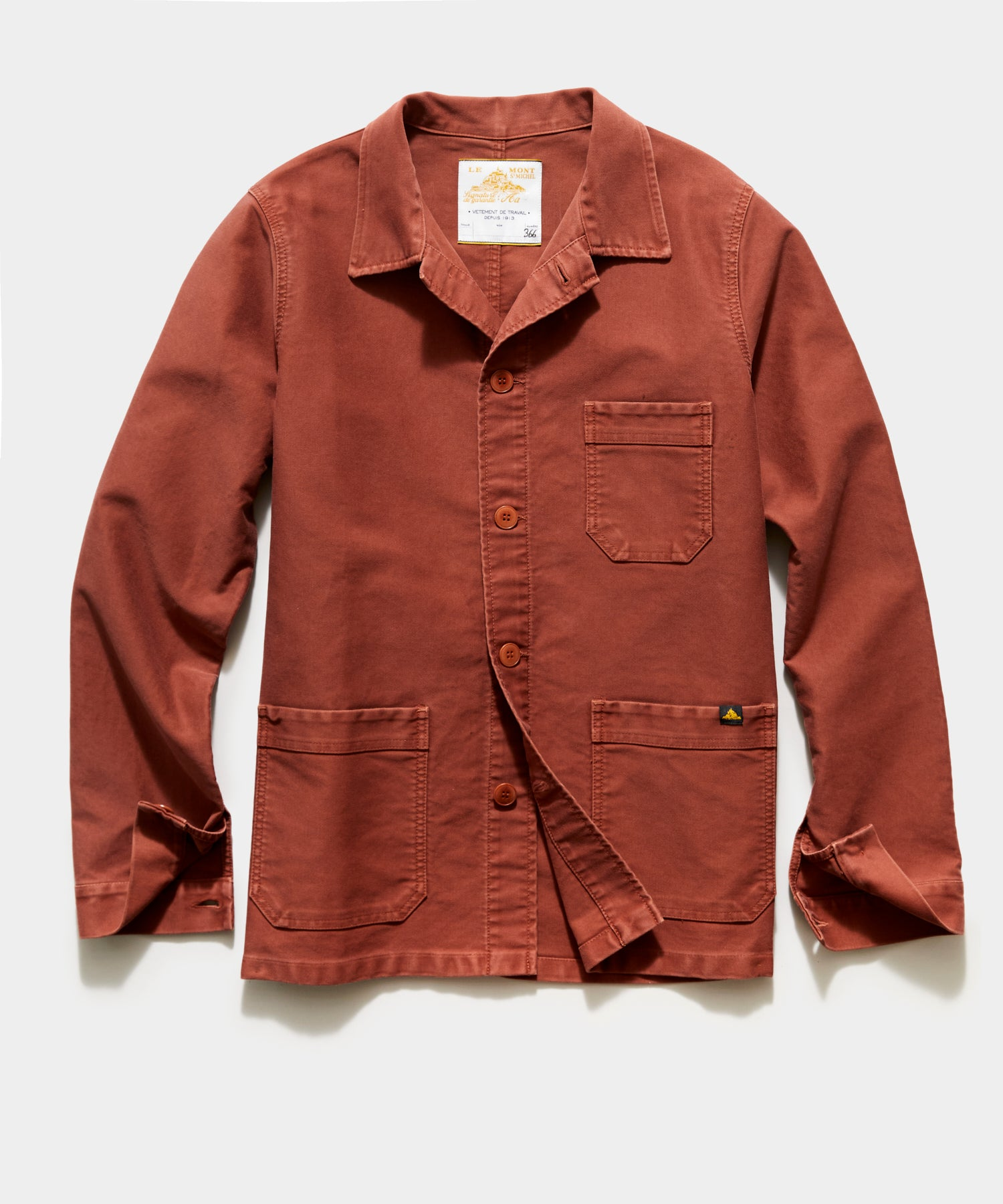 Le Mont St Michel Genuine Work Jacket in Brick
