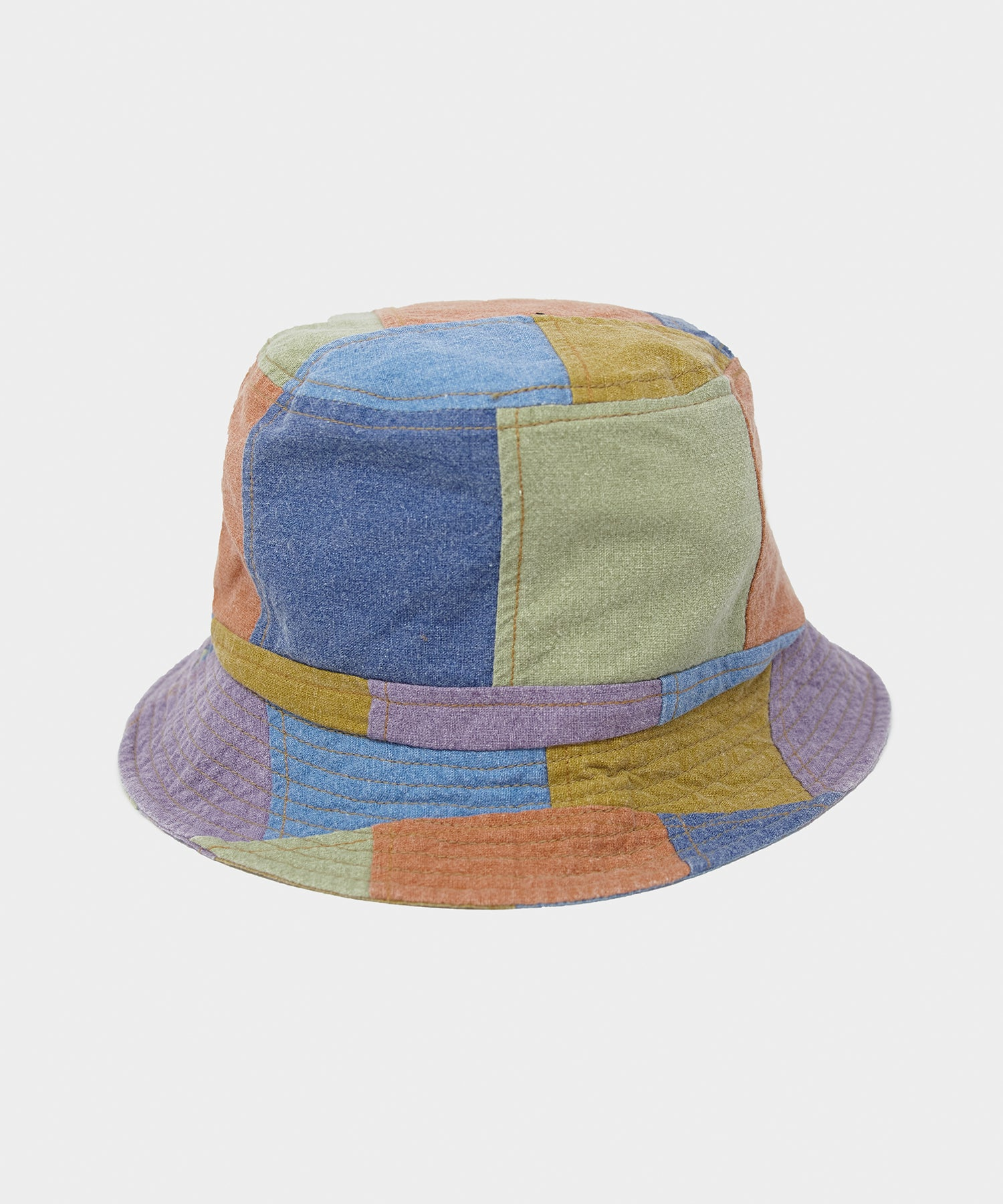 Câbleami Multi Denim Patchwork Bucket Hat
