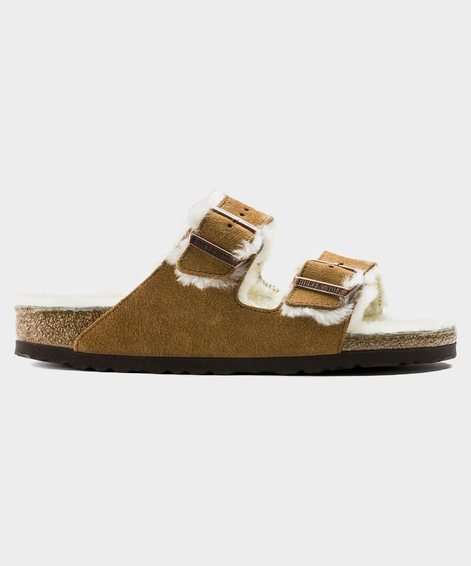 Birkenstock Arizona in Mink Shearling