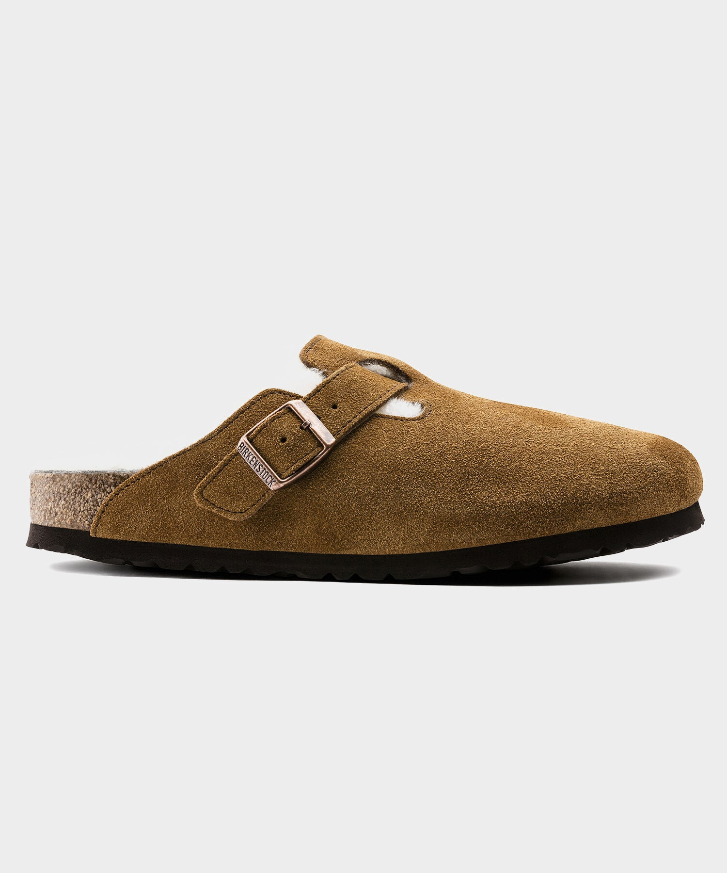 Birkenstock Boston in Mink Shearling