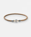 Miansai Nexus Sterling Silver Leather Bracelet in Natural