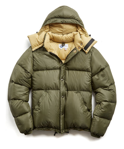 Crescent Down Works + Todd Snyder Olive Nylon Short Jacket