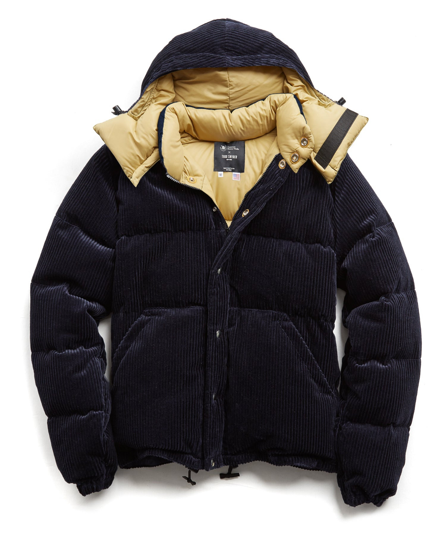 Crescent Down Works + Todd Snyder Navy Corduroy Short Jacket