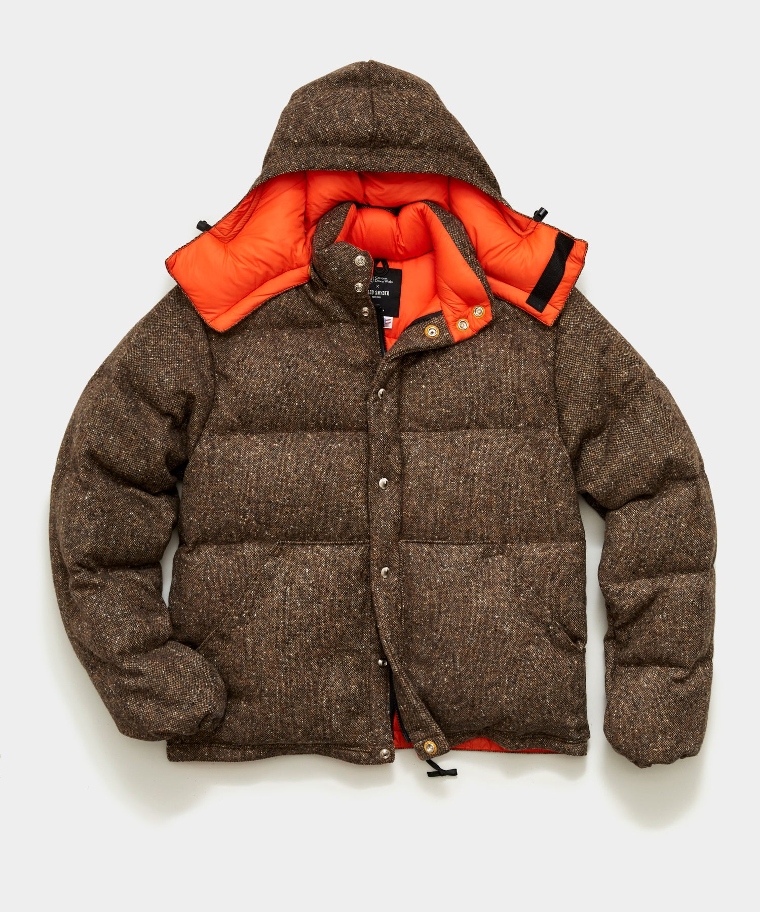 Crescent Down Works + Todd Snyder Brown Donegal Short Parka