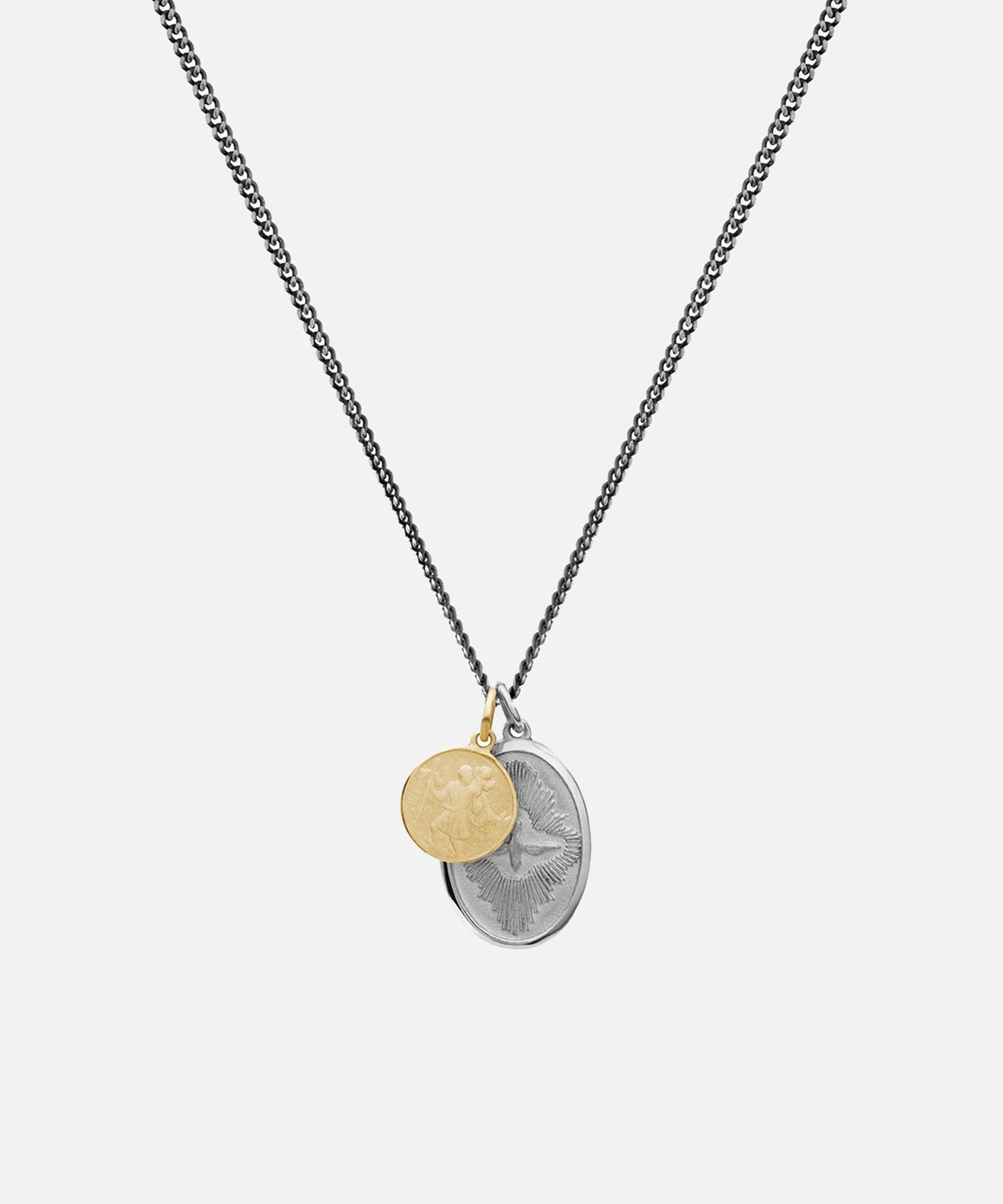 Miansai Mini Dove Pendant Necklace in Silver/Gold
