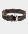 Guanábana Handmade Belt With Fringe + Round Buckle in Brown