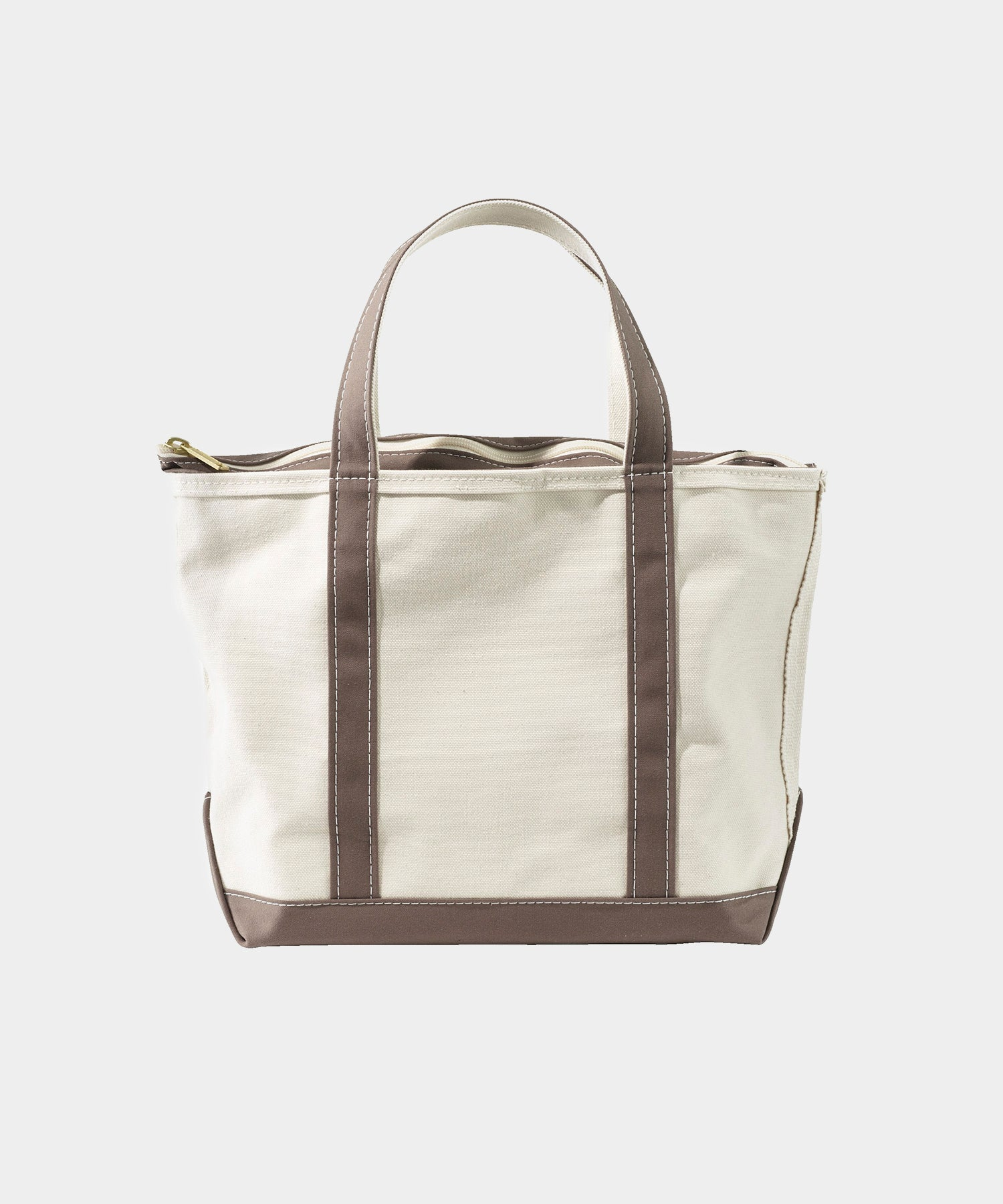 L.L.Bean Large Zip Top Boat And Tote in Brown