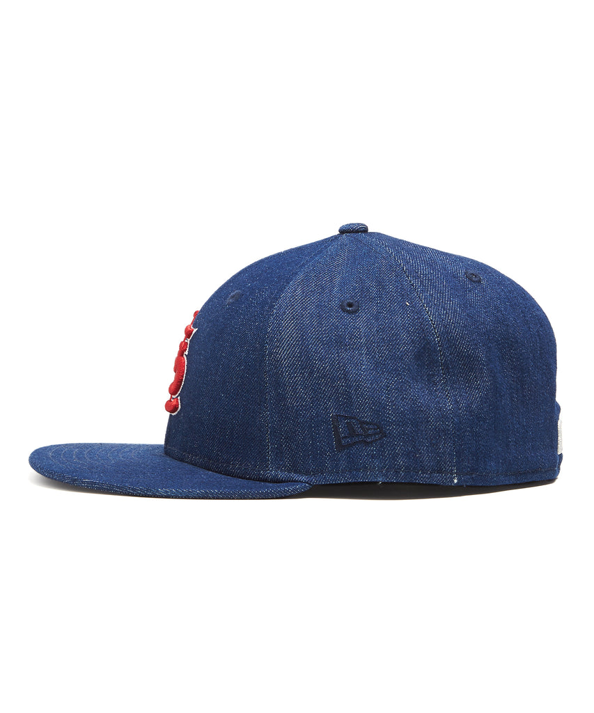 TODD SNYDER + NEW ERA MLB ST LOUIS CARDINALS CAP IN CONE DENIM ec8456b9a65