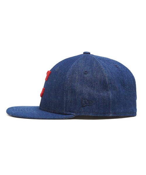 TODD SNYDER + NEW ERA MLB CLEVELAND INDIANS CAP IN CONE DENIM