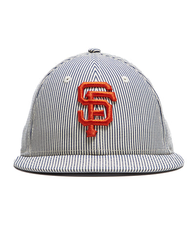 Todd Snyder + New Era San Francisco Giants Cap In Seersucker