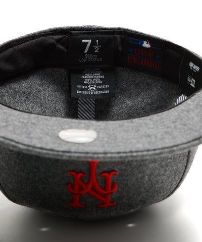 Exclusive NY Mets Hat In Italian Barberis Wool Flannel