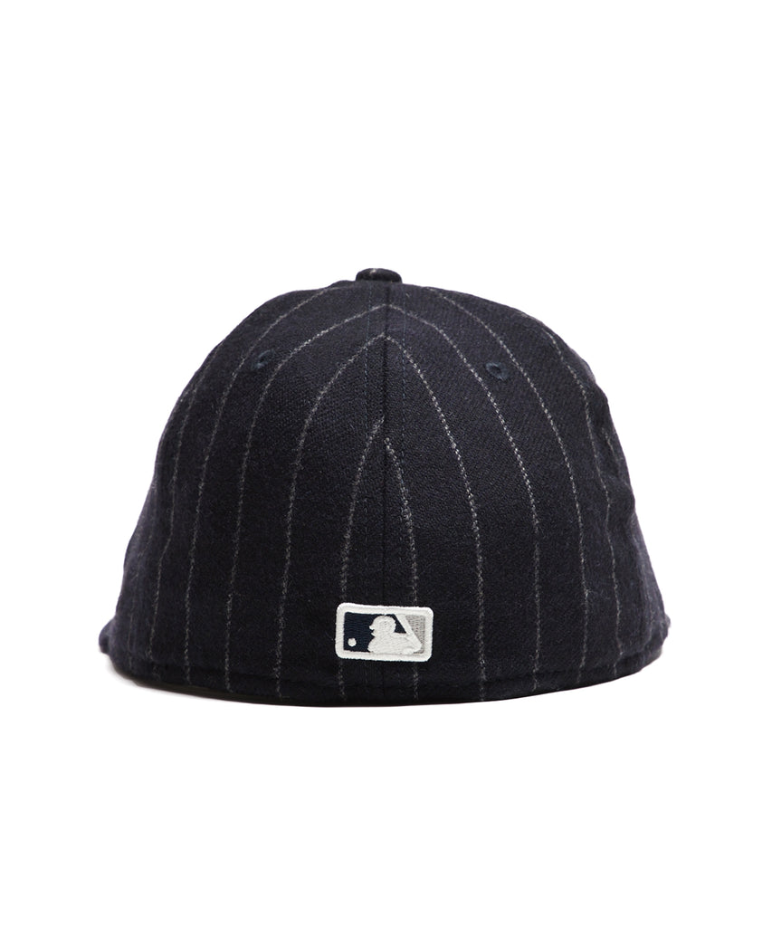 ... Exclusive New Era New York Yankees Cap in Abraham Moon Navy Wool  Chalkstripe 7542c12dcc1a