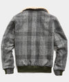 Exclusive Golden Bear + Todd Snyder Harris Tweed Faux Fur Collar Tweed Bomber