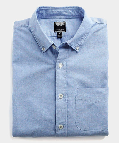Japanese Selvedge Oxford Button Down Shirt in Blue