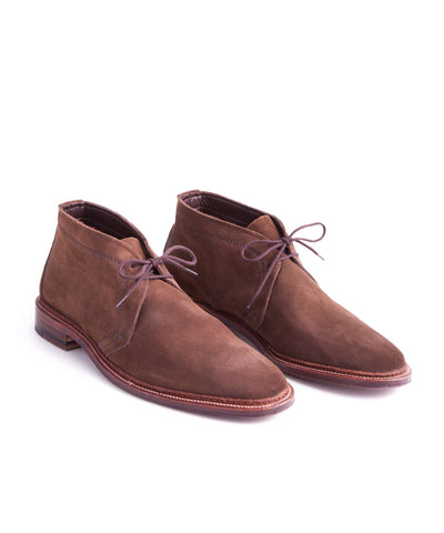 Alden Unlined Chukka Boot in Dark Brown Suede