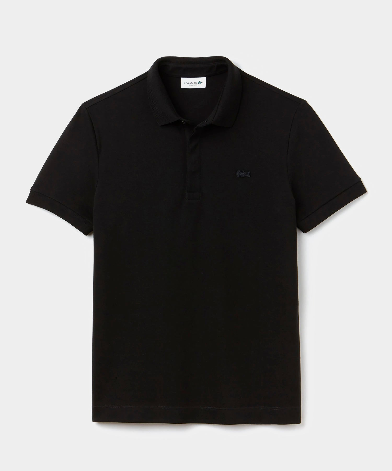 Lacoste Regular Fit Stretch Cotton Paris Polo in Black