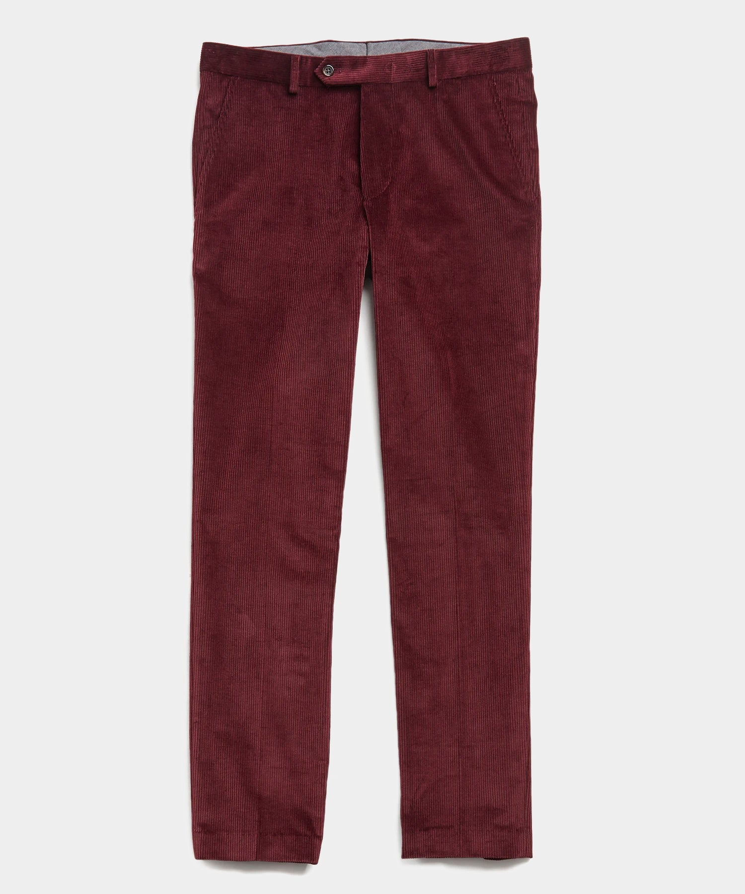 Sutton Corduroy Trouser in Burgundy