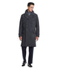 Italian Wool Twill Officer Coat in Black Alternate Image